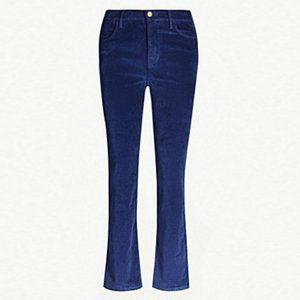 Frame Denim Le High Straight Navy Velvet Jeans 29